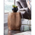 Signature Design by Ashley Elazer Indoor/Outdoor Accent Stool in Copper Finished Metal