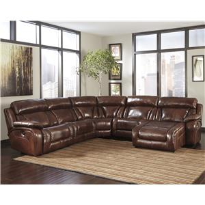 Signature Design by Ashley Elemen Contemporary Reclining Sectional Sofa
