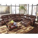Signature Design by Ashley Elemen Contemporary Power Reclining Sectional Sofa