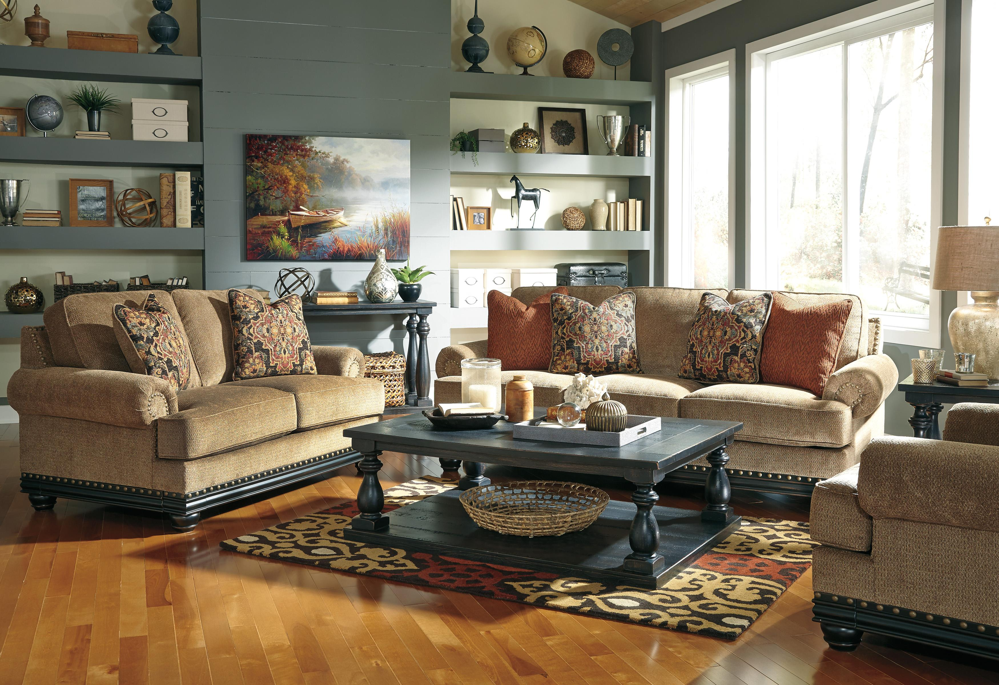 Signature Design by Ashley Elnora Stationary Living Room Group - Item Number: 93702 Living Room Group 2