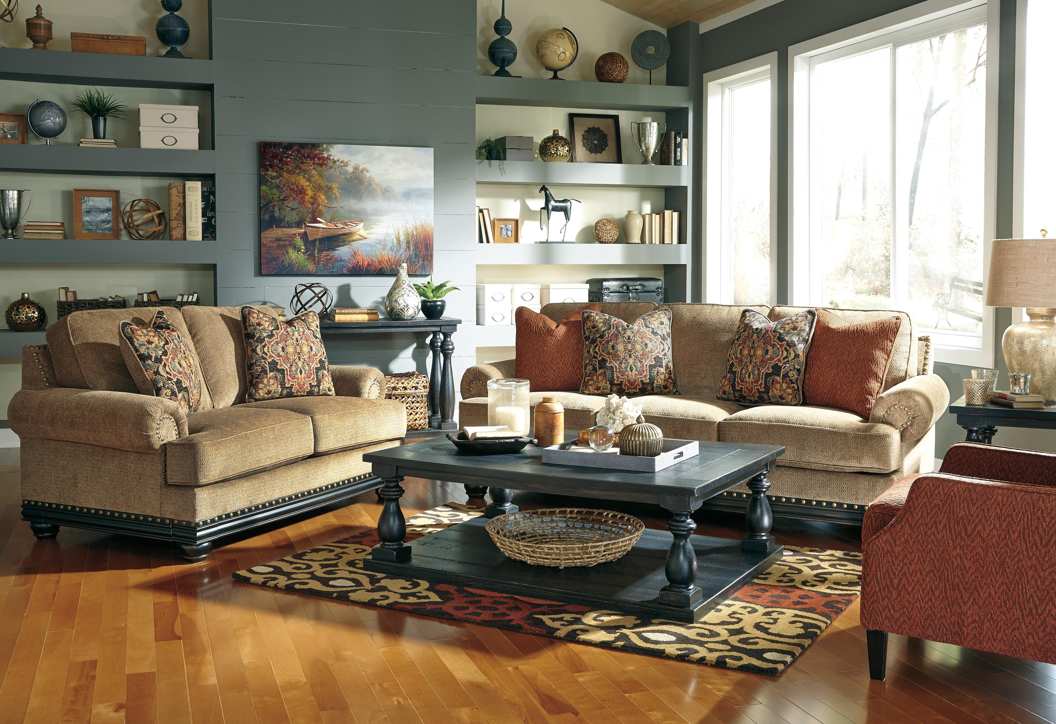 Signature Design by Ashley Elnora Stationary Living Room Group - Item Number: 93702 Living Room Group 3