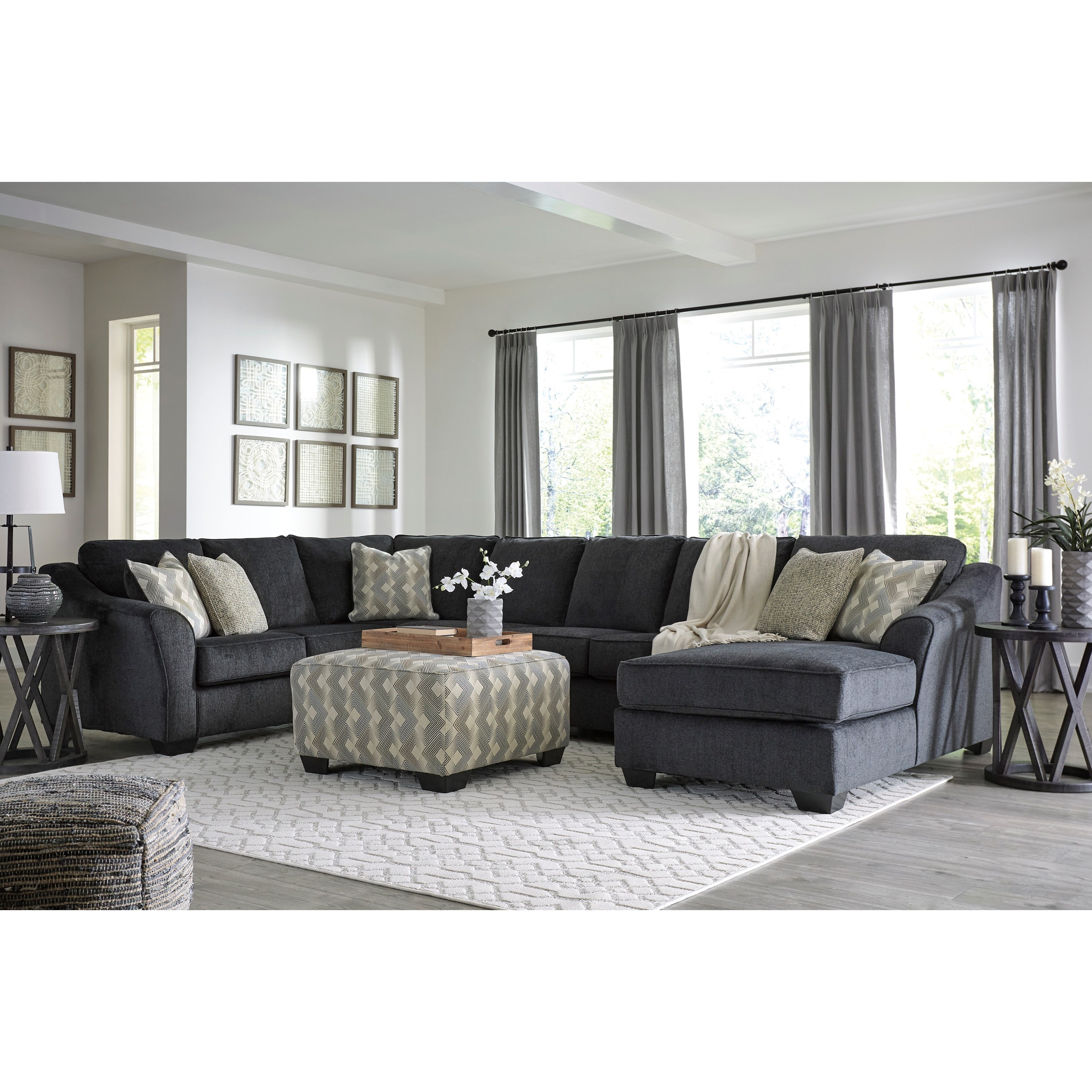 Eltmann 4 Piece Sectional With Chaise: Ashley (Signature Design) Eltmann 4 Piece Sectional With