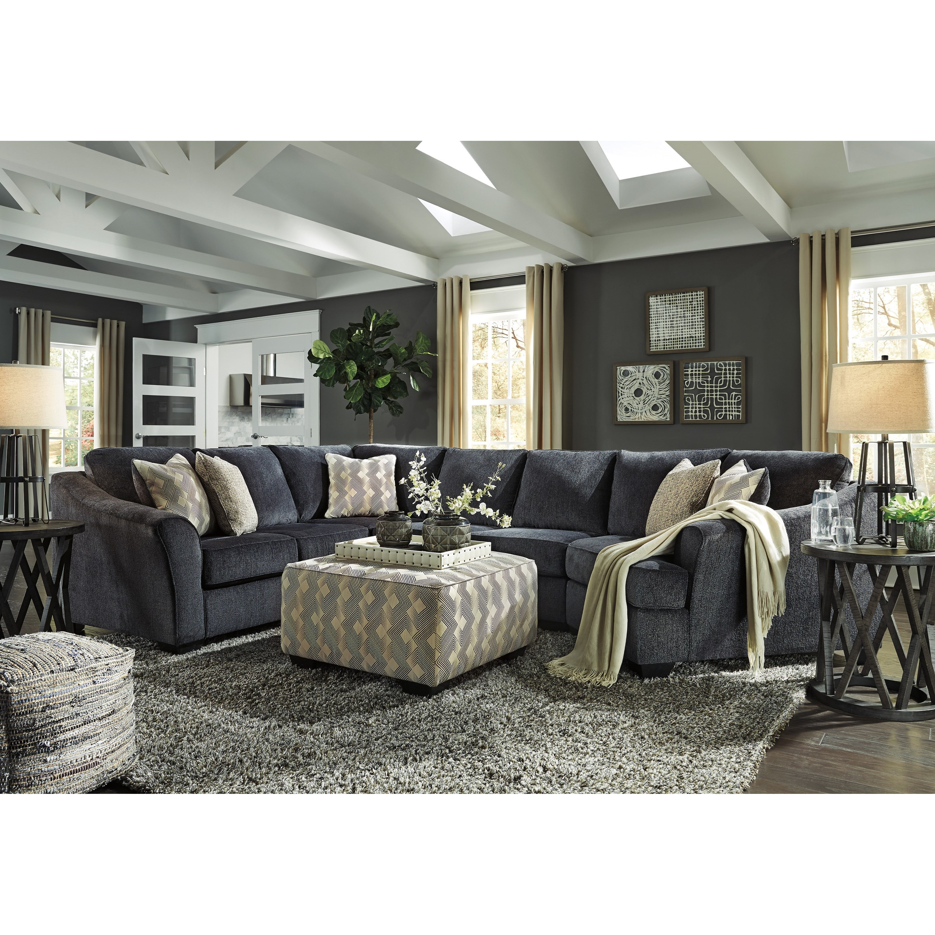 Eltmann 4 Piece Sectional With Chaise: Signature Design By Ashley Eltmann 3-Piece Sectional With