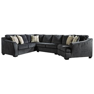 3-Piece Sectional with Right Cuddler