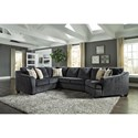 Signature Design by Ashley Eltmann 3-Piece Sectional with Right Cuddler
