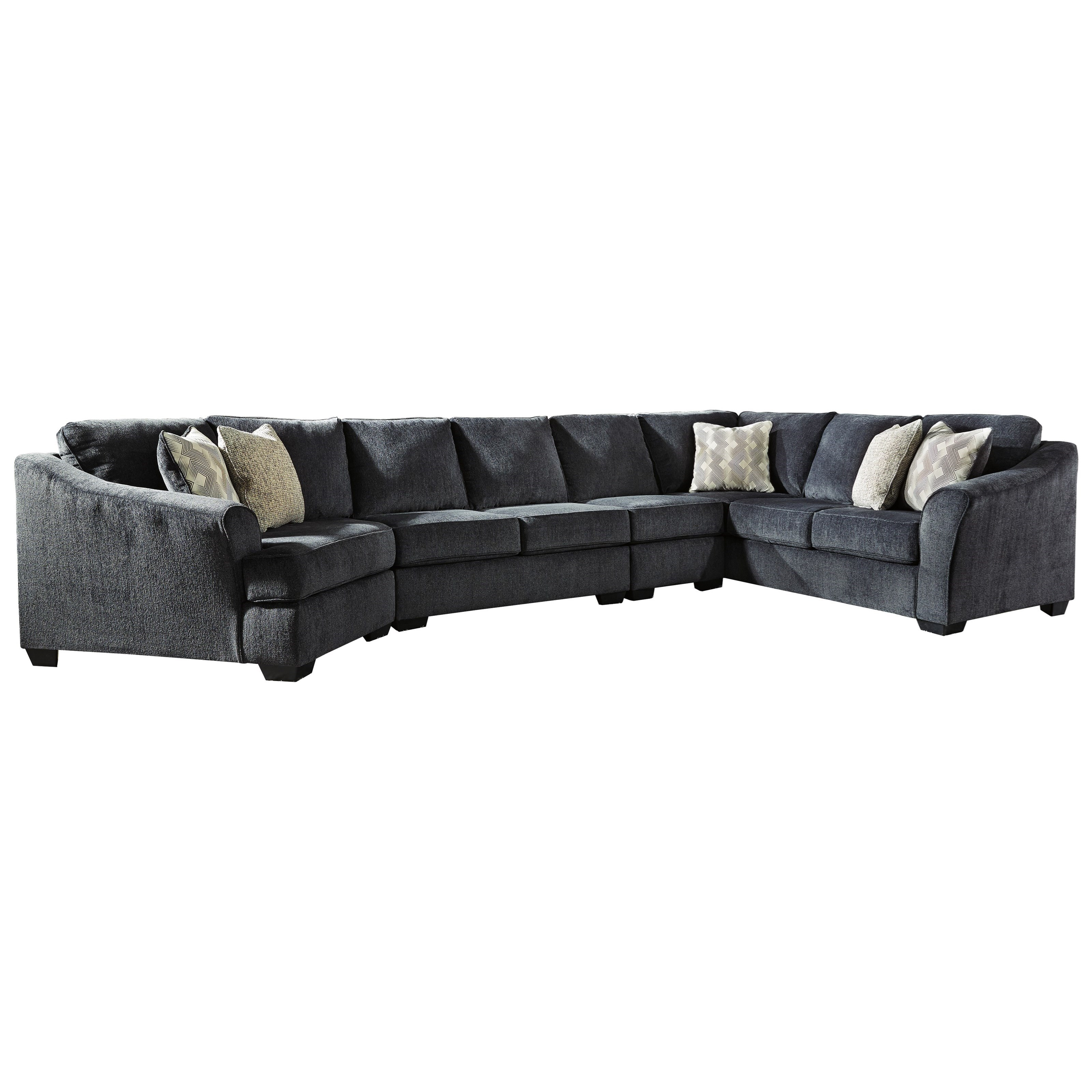 Eltmann 4-Piece Sectional with Left Cuddler by Ashley (Signature Design) at Johnny Janosik