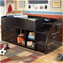 Signature Design by Ashley Embrace Twin Loft Bed with Bookcase & Chest Storage - Item Number: B239-68T+13R+17+19