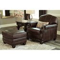 Signature Design by Ashley Embrook Chair and Ottoman Set - Item Number: 3250120+14