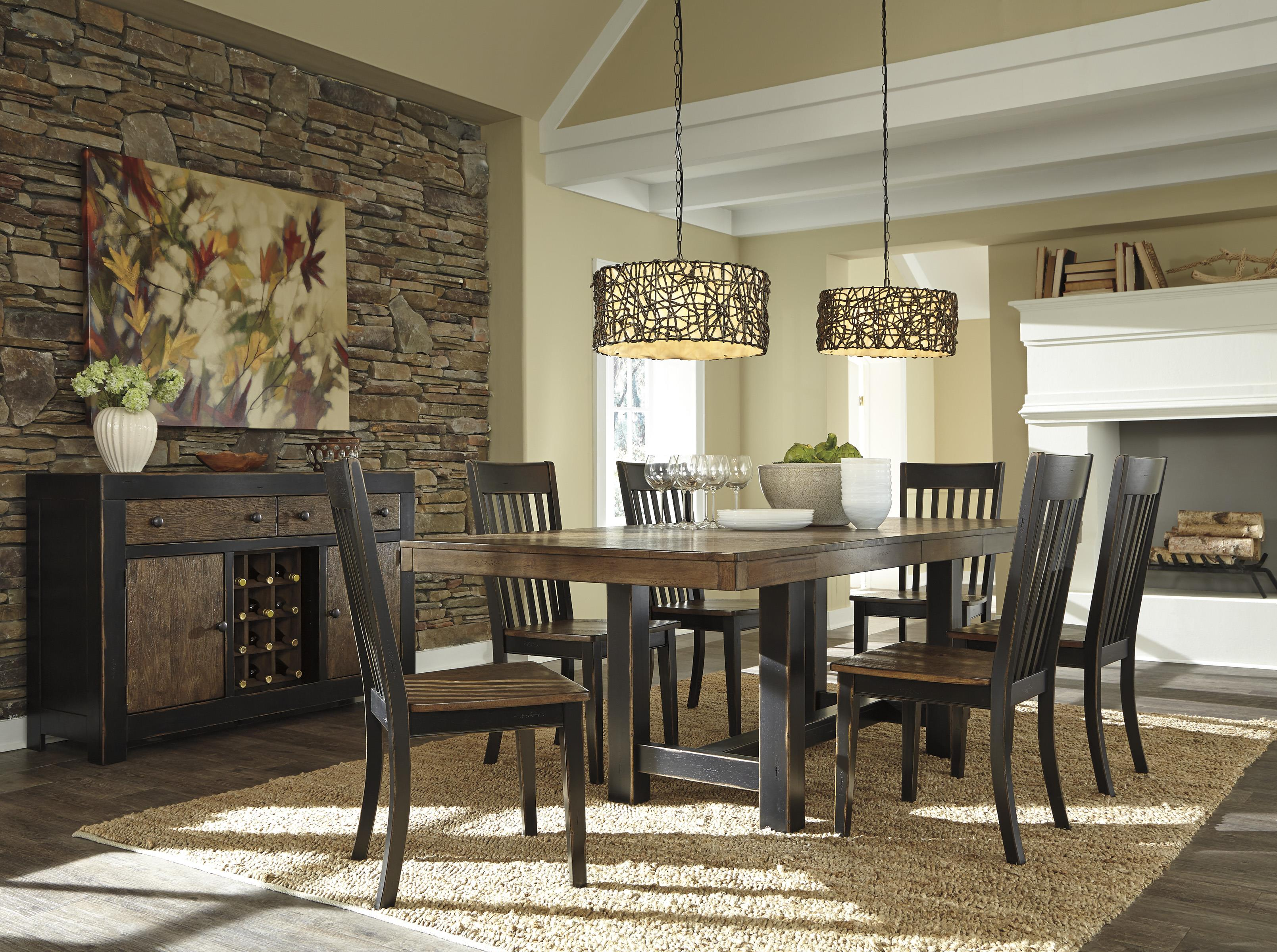 Signature Design by Ashley Emerfield Casual Dining Room Group - Item Number: D563 Dining Room Group 1