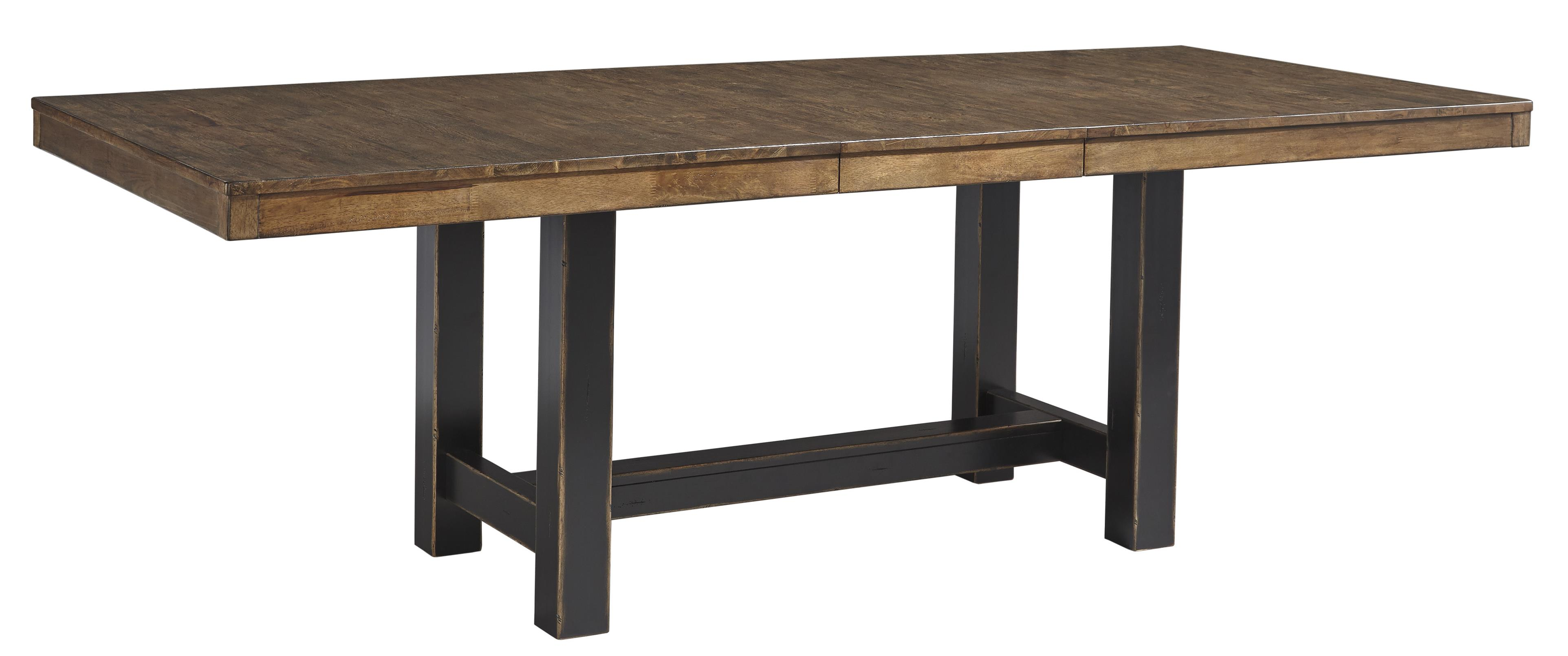 Signature Design by Ashley Emerfield Rectangular Dining Room Extension Table - Item Number: D563-35