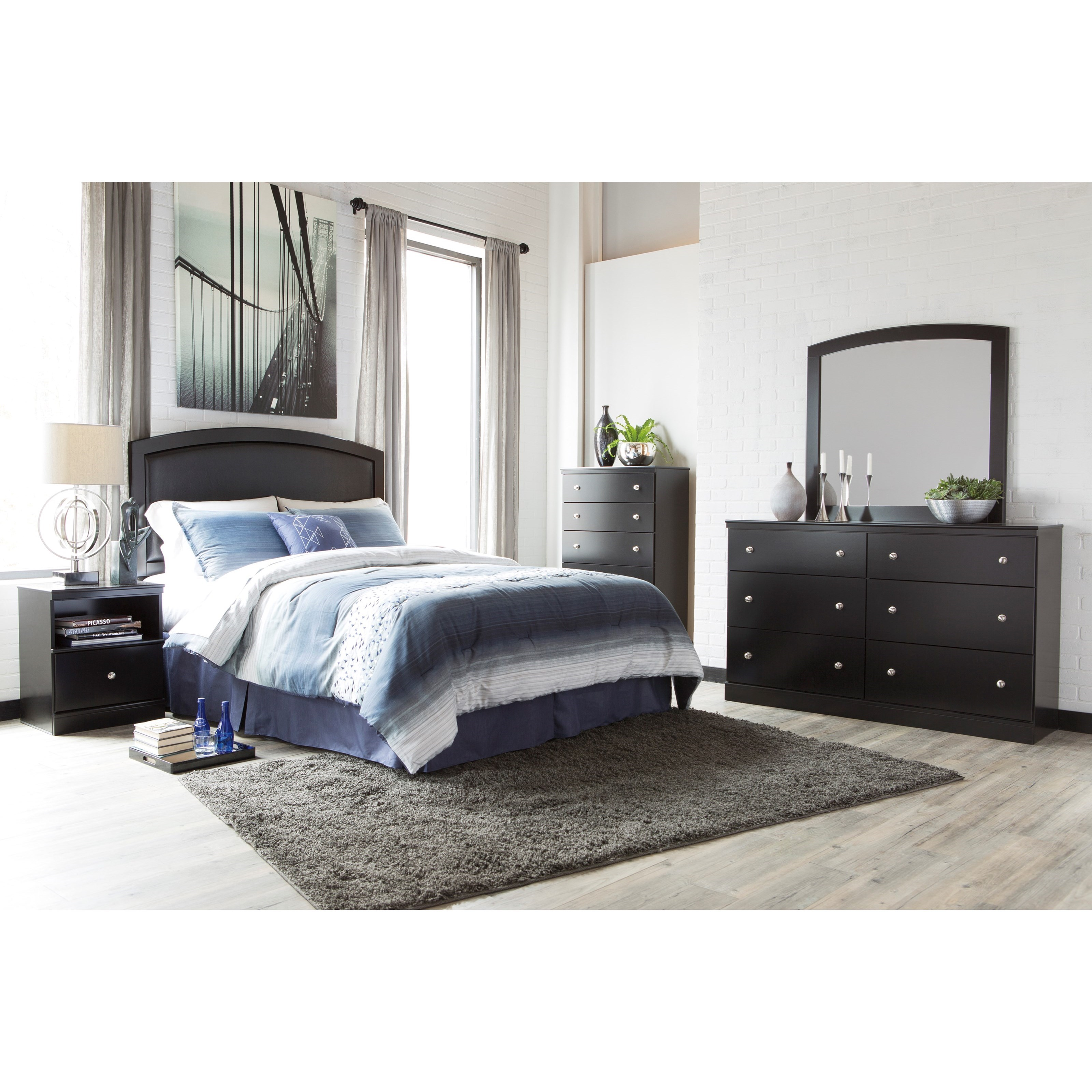 Signature Design by Ashley Emmafield Queen/Full Bedroom Group - Item Number: B420 QF Bedroom Group 4