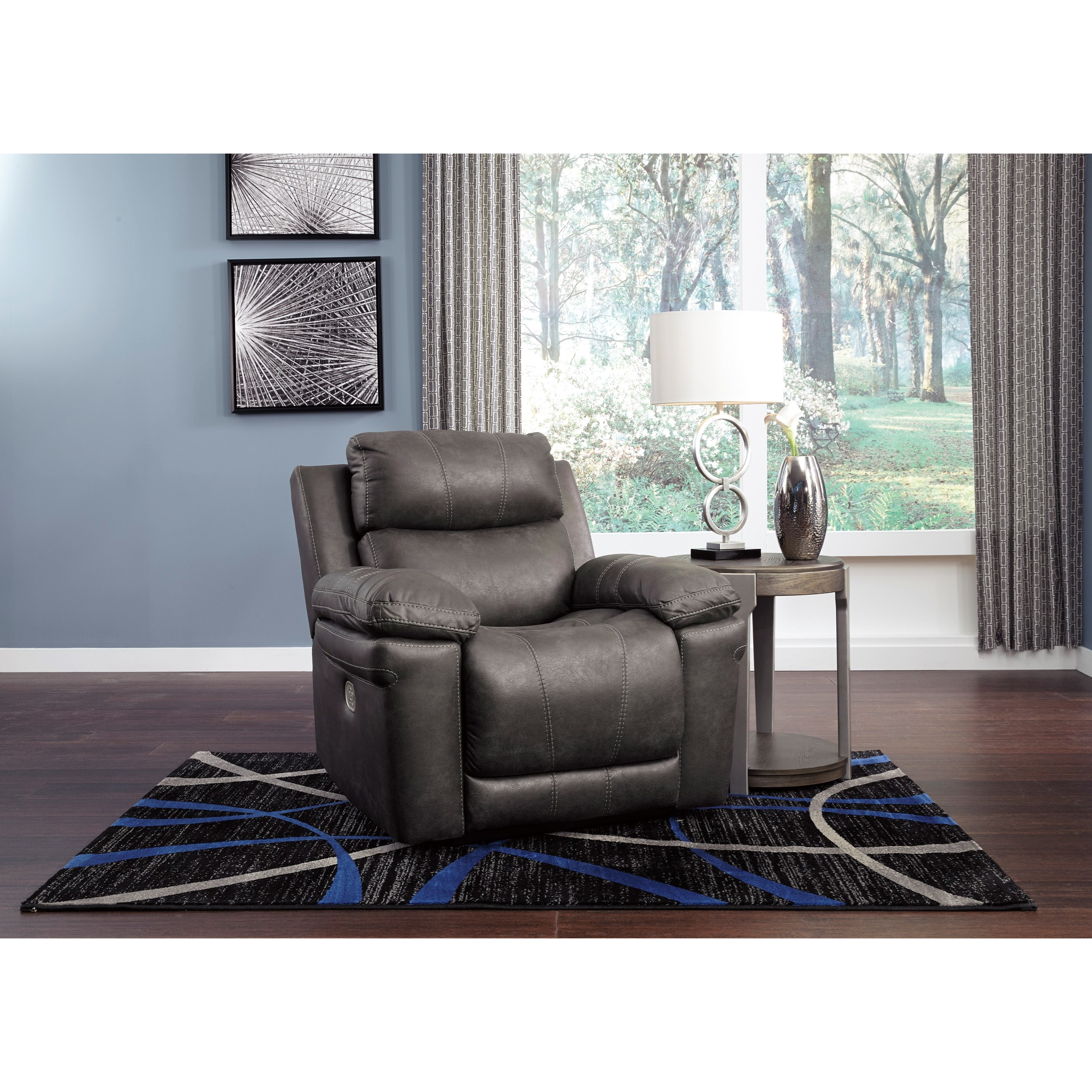 Ashley Furniture Warehouse Edison Nj: Signature Edison Casual Power Recliner With Adjustable