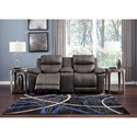 Signature Design by Ashley Erlangen Power Reclining Loveseat with Power Headrest and Center Console