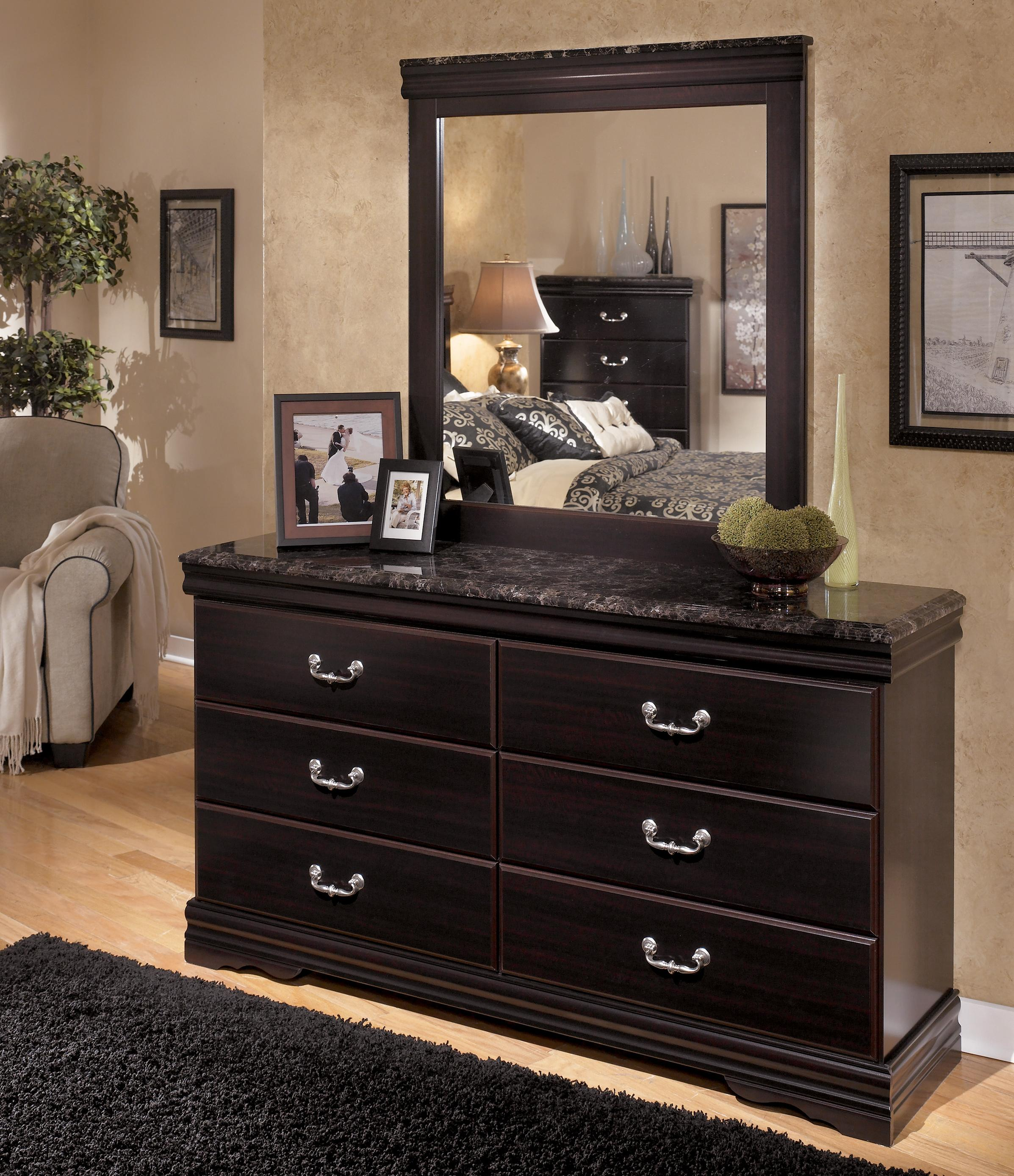 Signature Design by Ashley Esmarelda Dresser & Mirror - Item Number: B179-31+36