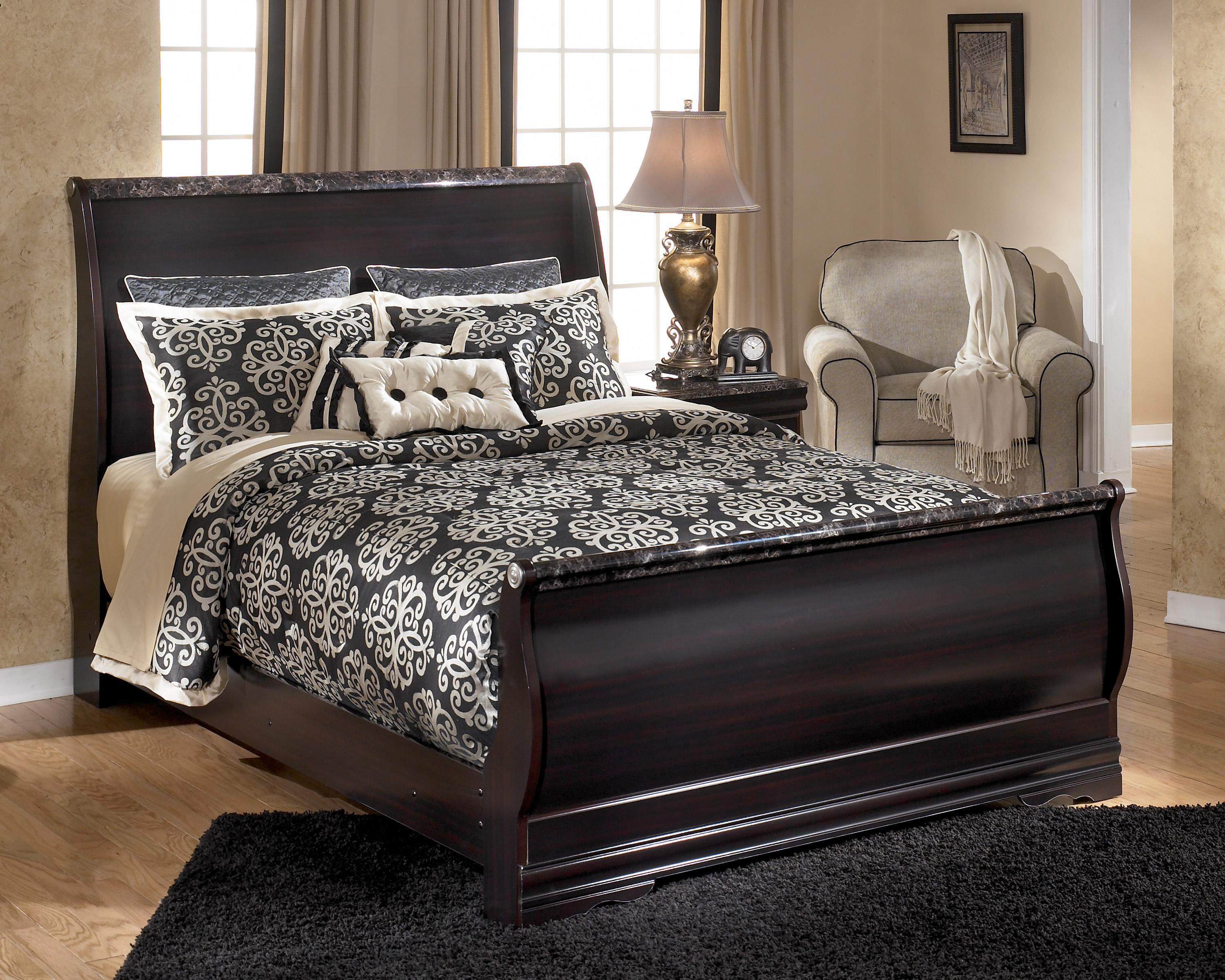 Signature Design by Ashley Esmarelda Queen Sleigh Bed - Item Number: B179-77+74+96
