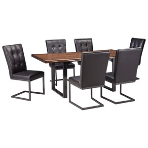 Signature Design by Ashley Esmarina 7-Piece Rectangular Dining Table Set
