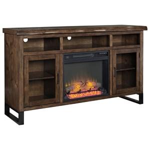 Ashley Signature Design Esmarina Large TV Stand w/ Fireplace Insert