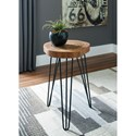 Signature Design by Ashley Eversboro Solid Wood Accent Table with Hairpin Legs