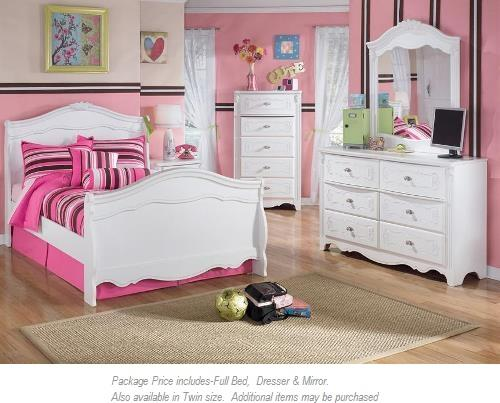 Signature Design by Ashley Exquisite 3-PC Full Bedroom - Item Number: B188 3 PC FULL BEDROOM