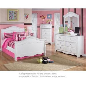 Signature Design by Ashley Exquisite 3-PC Full Bedroom