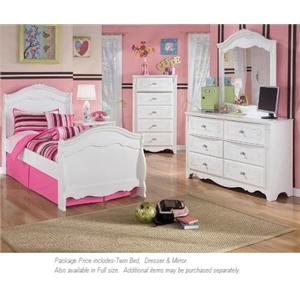 Signature Design by Ashley Exquisite 3-PC Twin Bedroom