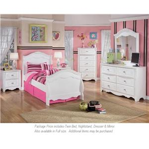 Signature Design by Ashley Exquisite 4-PC Twin Bedroom