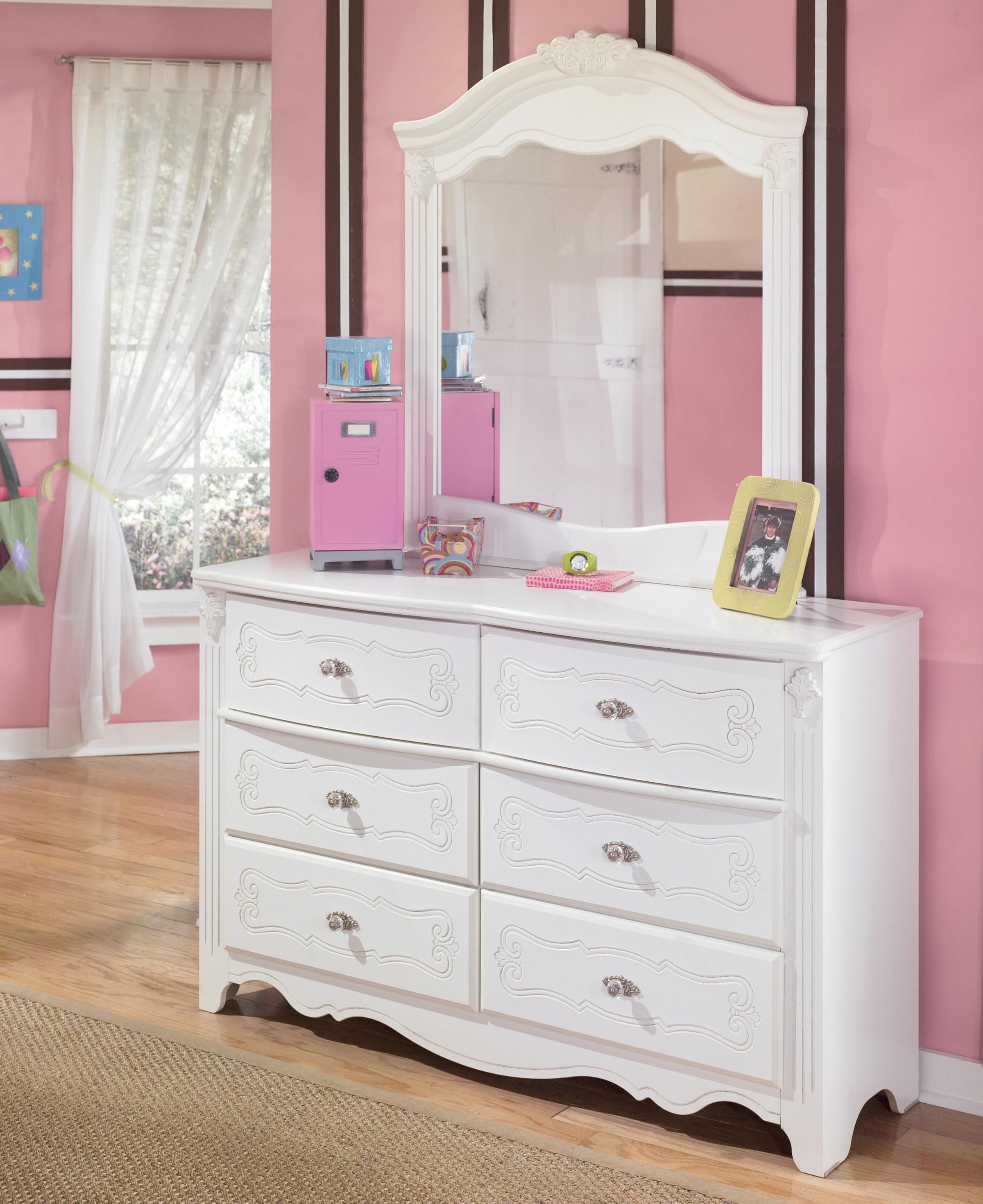 Signature Design by Ashley Exquisite Dresser and Mirror - Item Number: B188-21+26