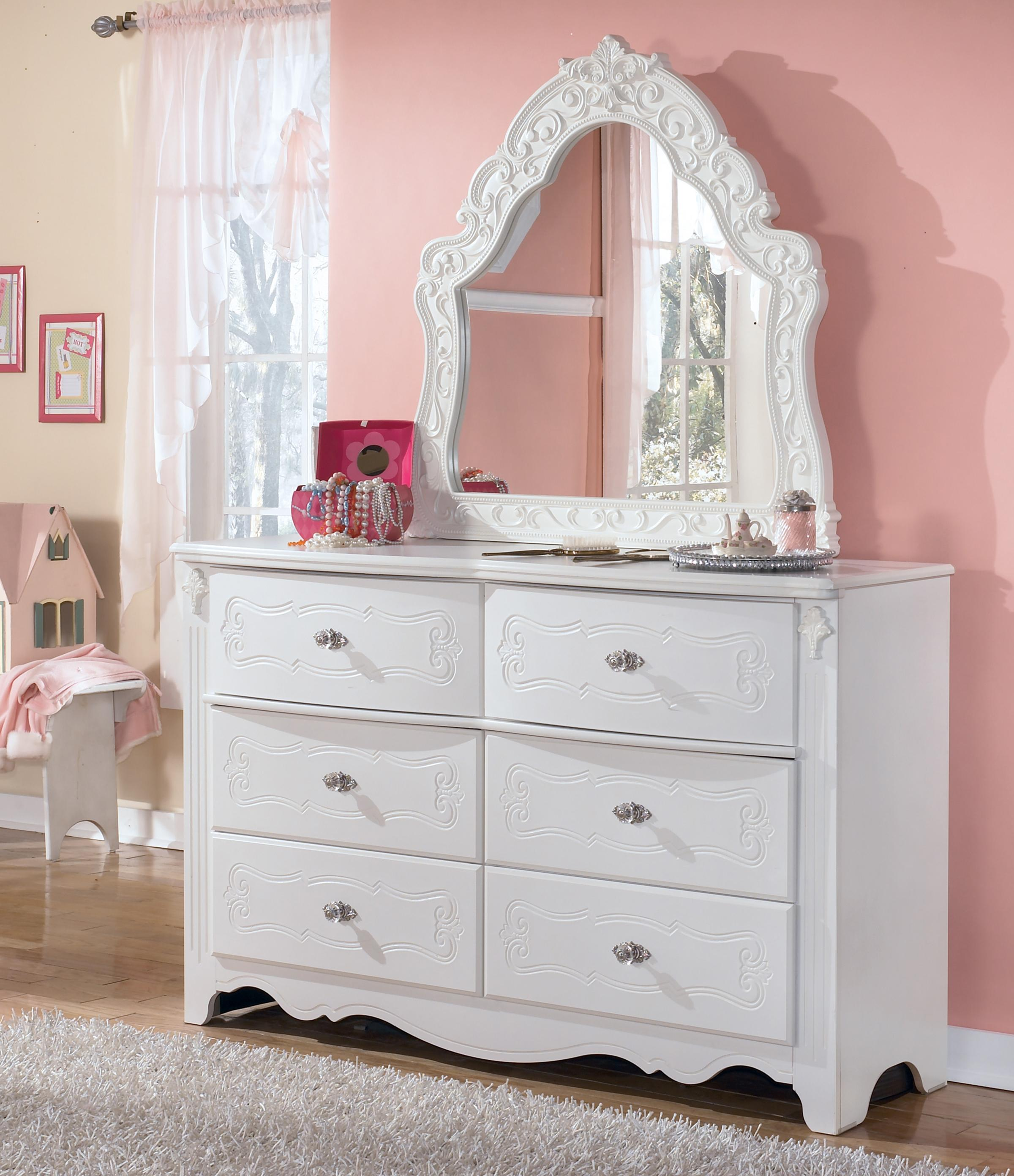 Signature Design by Ashley Exquisite Dresser & Bedroom Mirror - Item Number: B188-21+37