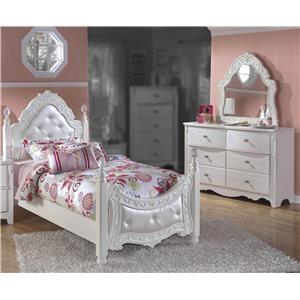3PC Twin Poster Bedroom Set