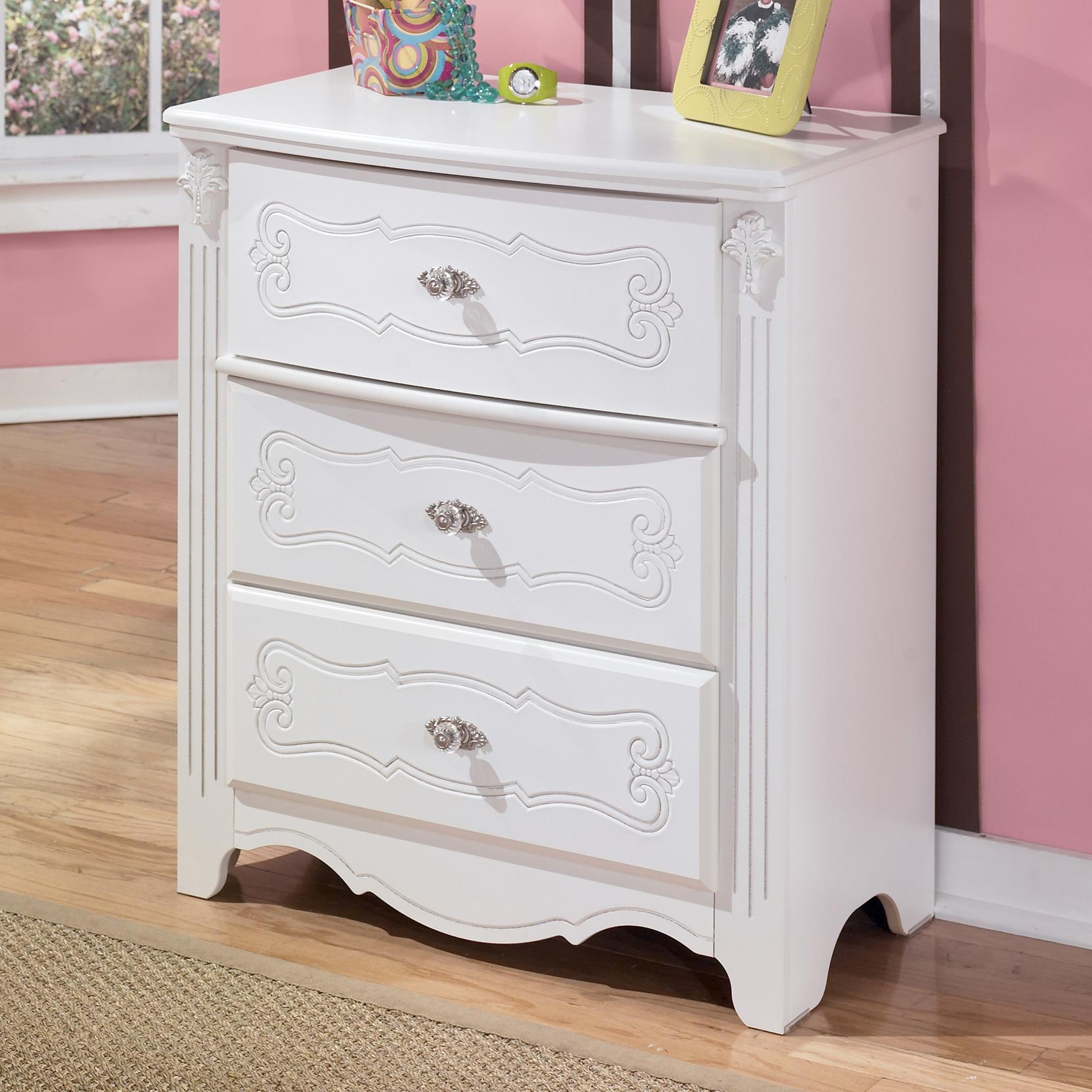 Signature Design by Ashley Exquisite 3-Drawer Chest - Item Number: B188-43
