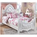Signature Design by Ashley Exquisite Twin Poster Bed - Item Number: B188-71+83