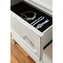 Signature Design by Ashley Faelene Relaxed Vintage Drawer Dresser and Mirror with Felt-Lined Top Drawers