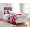 Signature Design by Ashley Faelene Twin Upholstered Bed with Nail Head Trim - Bed Shown May Not Represent Bed Size Indicated