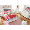 Signature Design by Ashley Faelene Full Upholstered Bed with Nail Head Trim - Bed Shown May Not Represent Bed Size Indicated