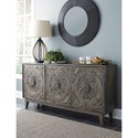 Signature Design by Ashley Fair Ridge Relaxed Vintage 3-Door Console