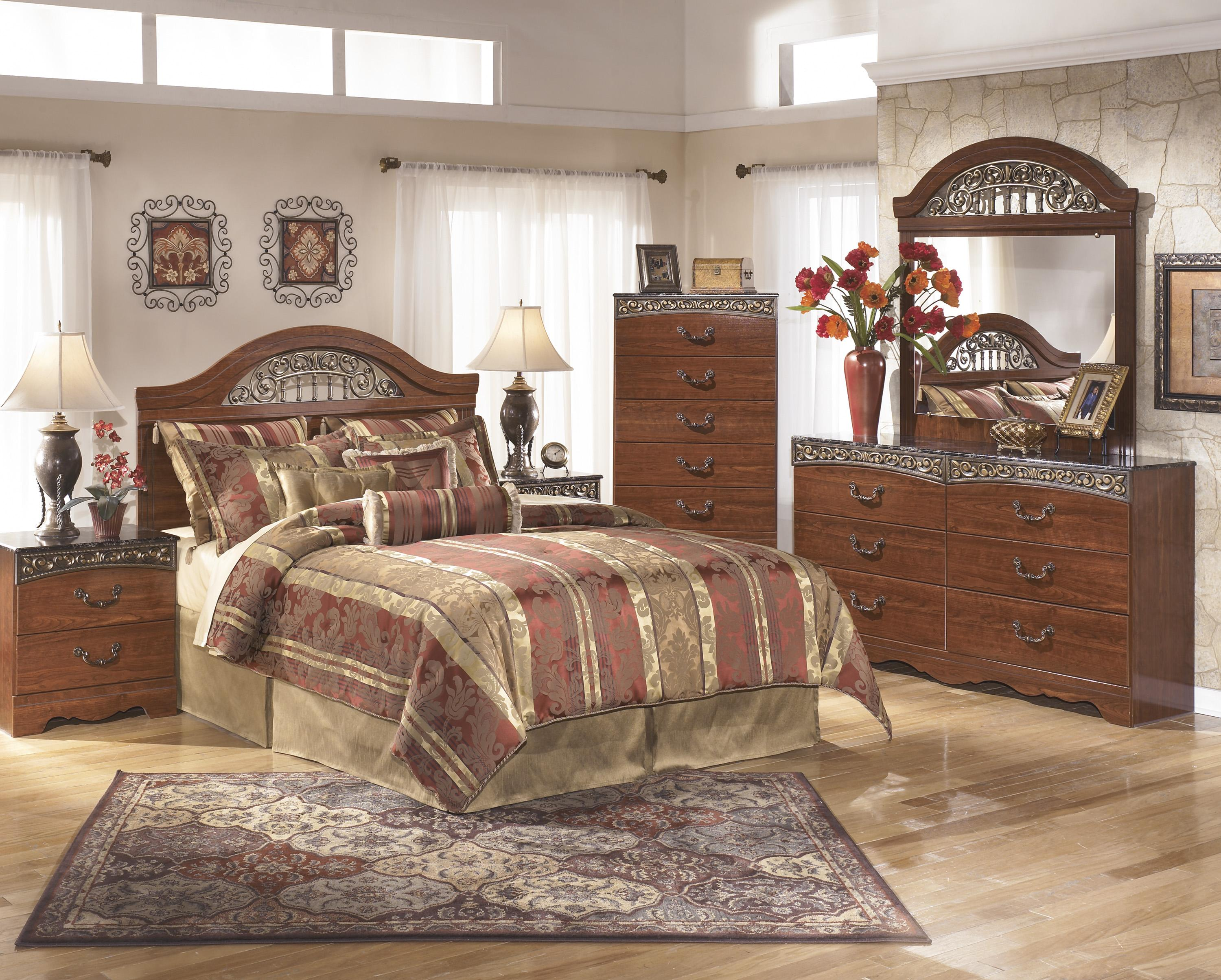 Signature Design by Ashley Fairbrooks Estate Queen Bedroom Group - Item Number: B105 Q Bedroom Group 3