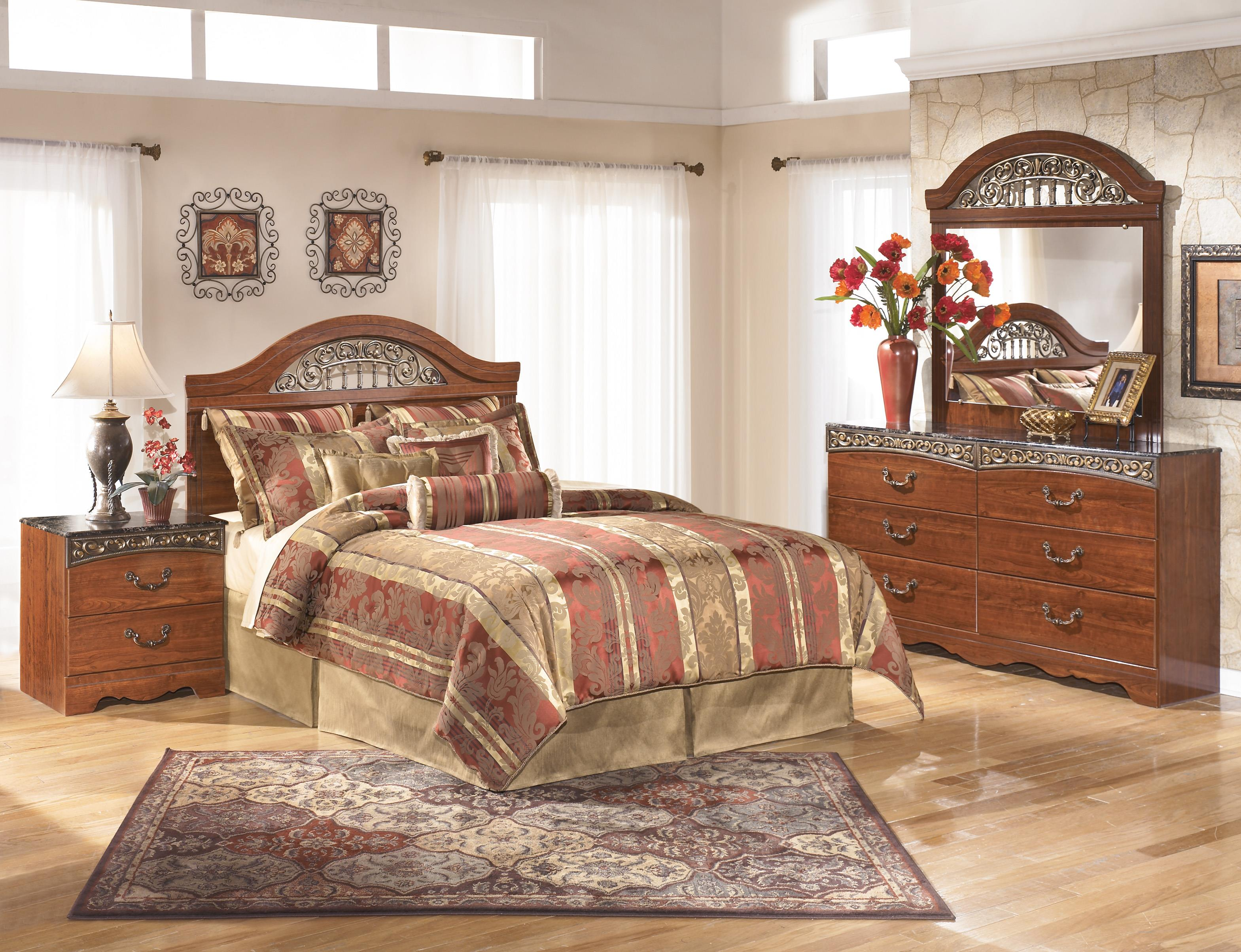 Signature Design by Ashley Fairbrooks Estate Queen Bedroom Group - Item Number: B105 Q Bedroom Group 5