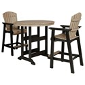 Signature Design by Ashley Fairen Trail 3-Piece Round Bar Table Set - Item Number: P211-613+130