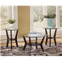 Signature Design by Ashley Fantell 3-in-1 Group Occasional Tables - Item Number: T210-13