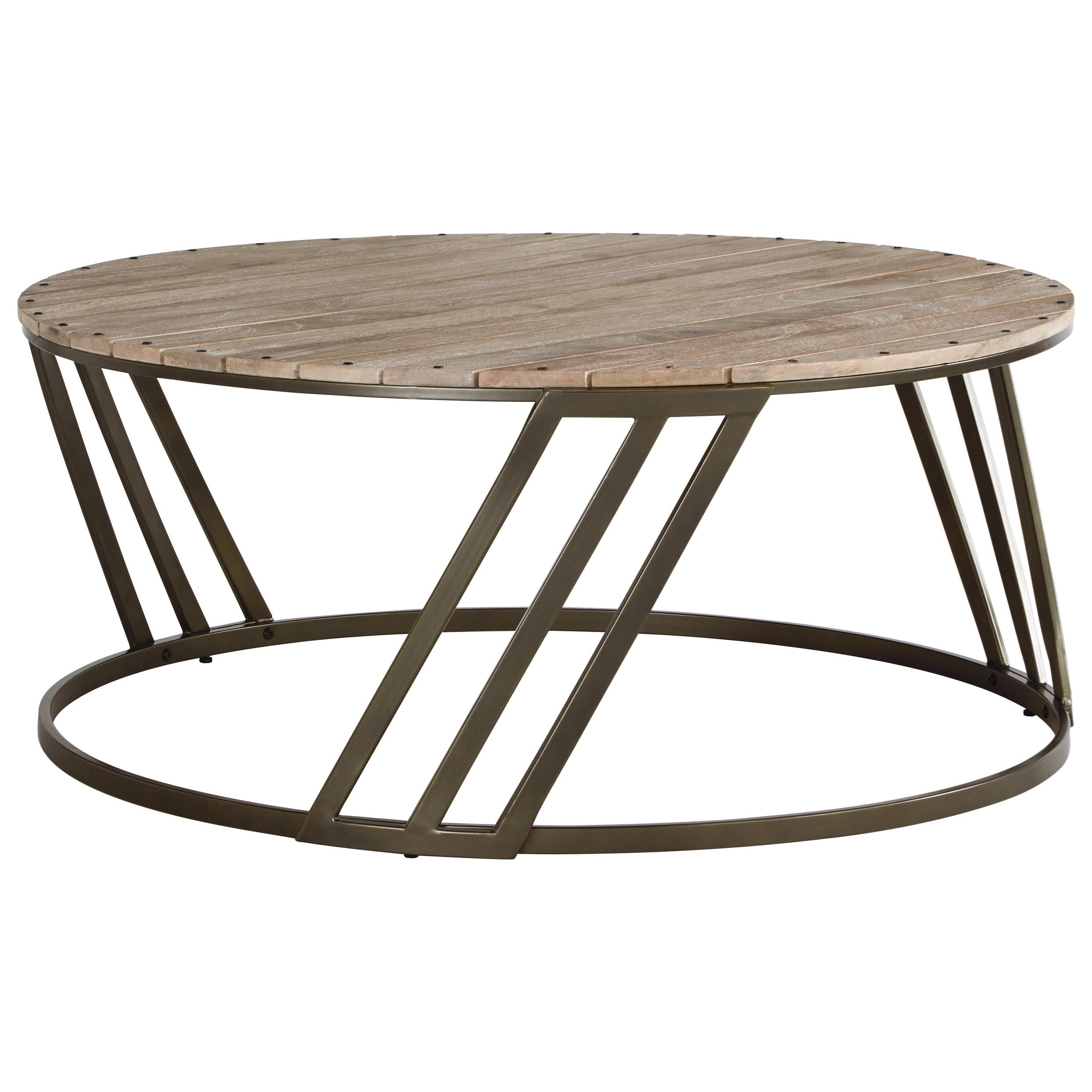 Signature Design by Ashley Fathenzen Round Cocktail Table - Item Number: T536-8