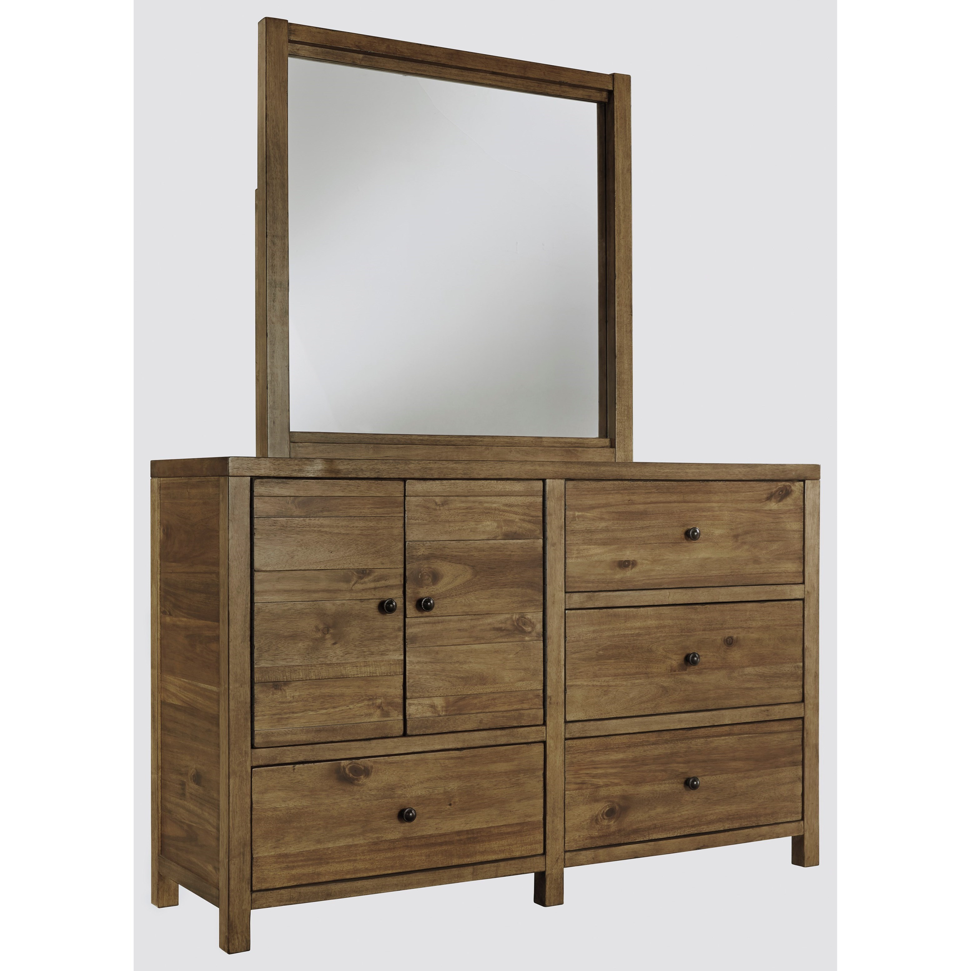 Signature Design by Ashley Fennison Dresser & Bedroom Mirror - Item Number: B544-21+26