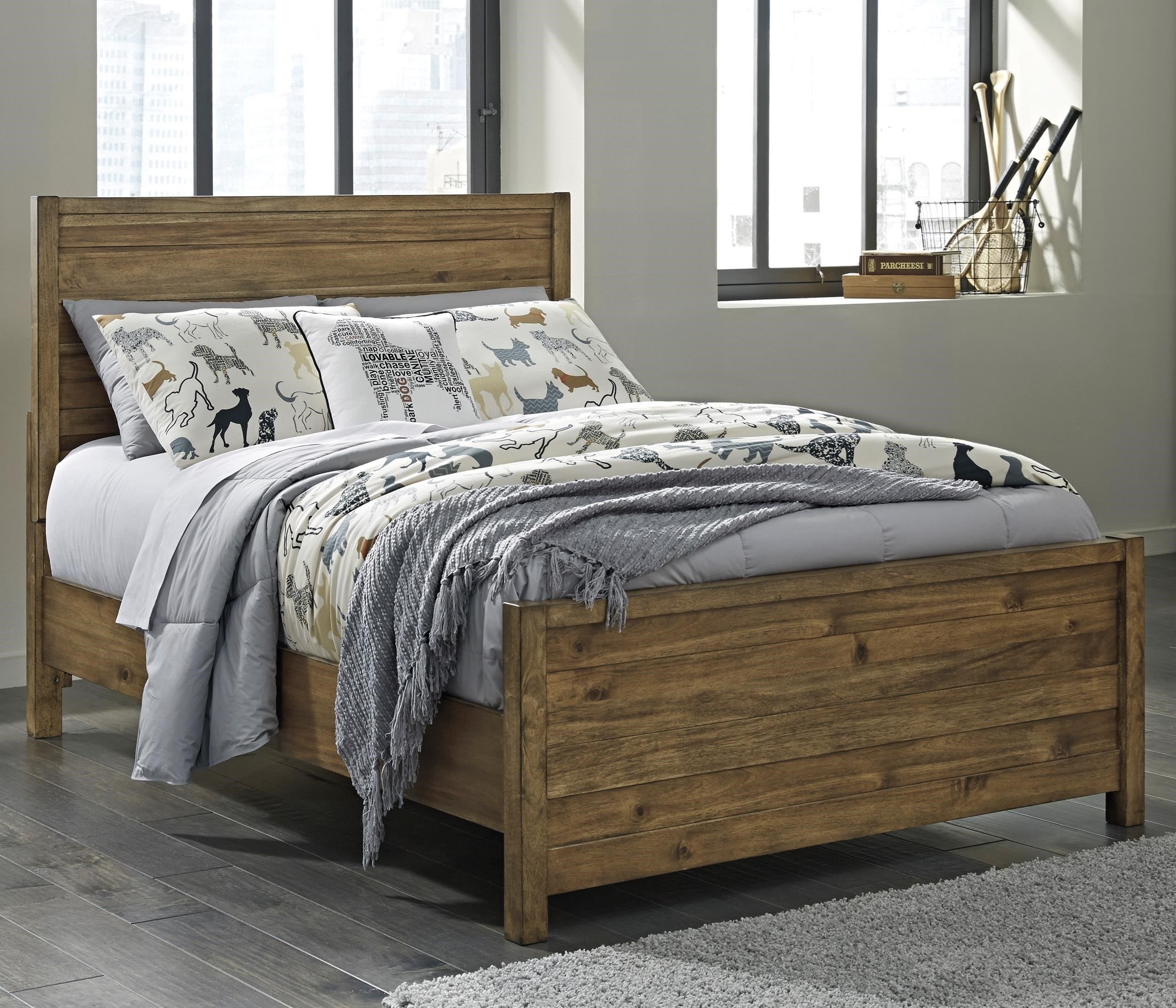 Signature Design by Ashley Fennison Twin Panel Bed - Item Number: B544-53+52+83