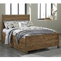 Signature Design by Ashley Fennison Full Panel Bed with 2 Side Storage Drawers - Item Number: B544-87+84+86S+60