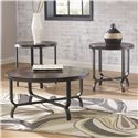 Signature Design by Ashley Ferlin Occasional Table Set - Item Number: T238-13