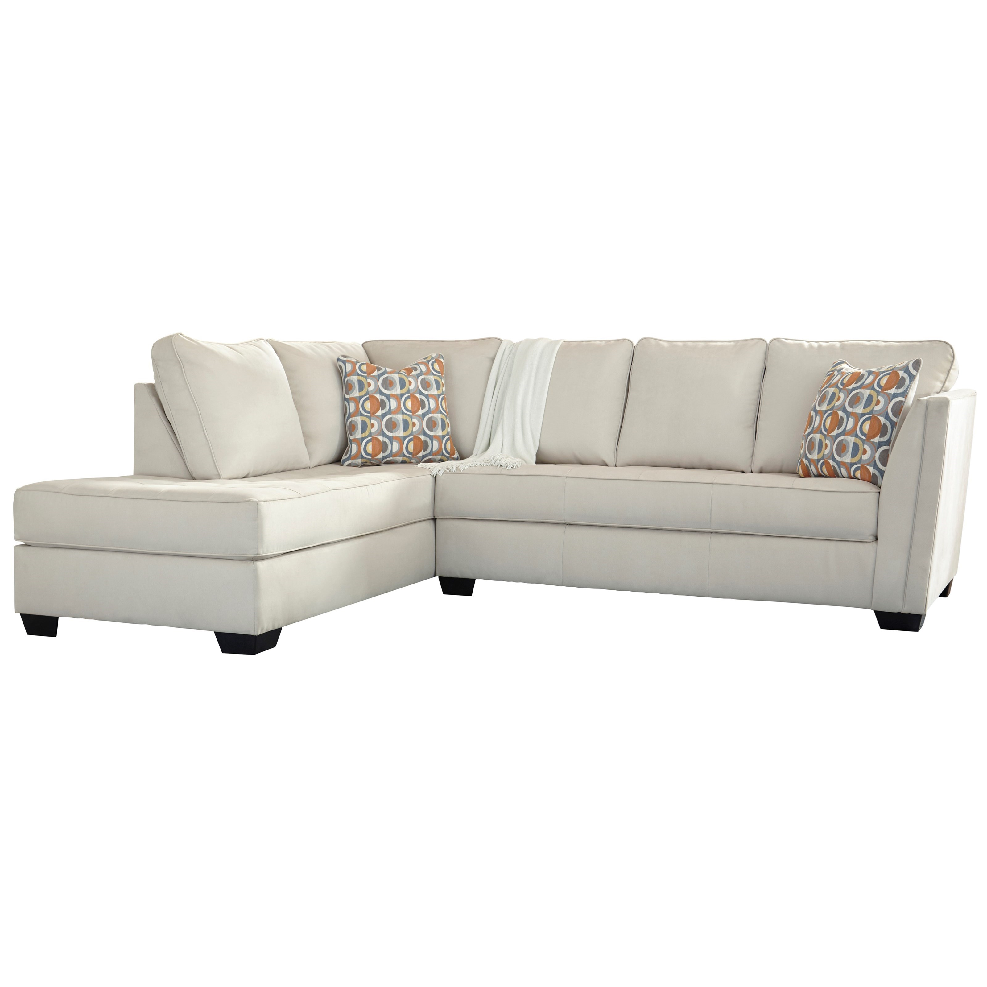 Filone Contemporary Sectional Sofa With Chaise And Cushion Tufting By Signature Design Ashley At Furniture Liancemart