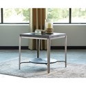 Signature Design by Ashley Flandyn 1 Shelf Square End Table with Metal Frame