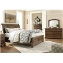 Signature Design by Ashley Flynnter King 5 Piece Bedroom Group - Item Number: B719 Storage King 5 Pc Group