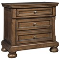 Signature Design by Ashley Flynnter Two Drawer Night Stand - Item Number: B719-92