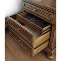 Signature Design by Ashley Flynnter Two Drawer Night Stand with Hidden Felt-Lined Jewelry Drawer