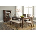 Signature Design by Ashley Flynnter Casual Dining Room Group - Item Number: D719 Dining Room Group 3